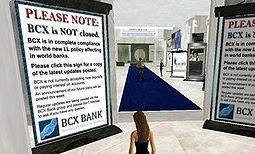Crach banquier dans Second Life