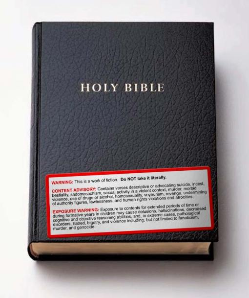 Bible Warning Label
